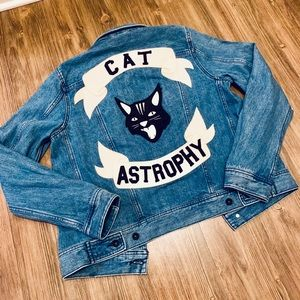 Diesel Button Down Cat Astrophy Denim Jacket L